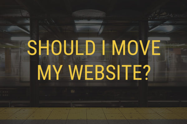 Should I move my website?