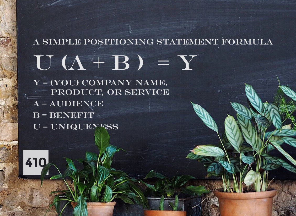 Positioning Statement Formula