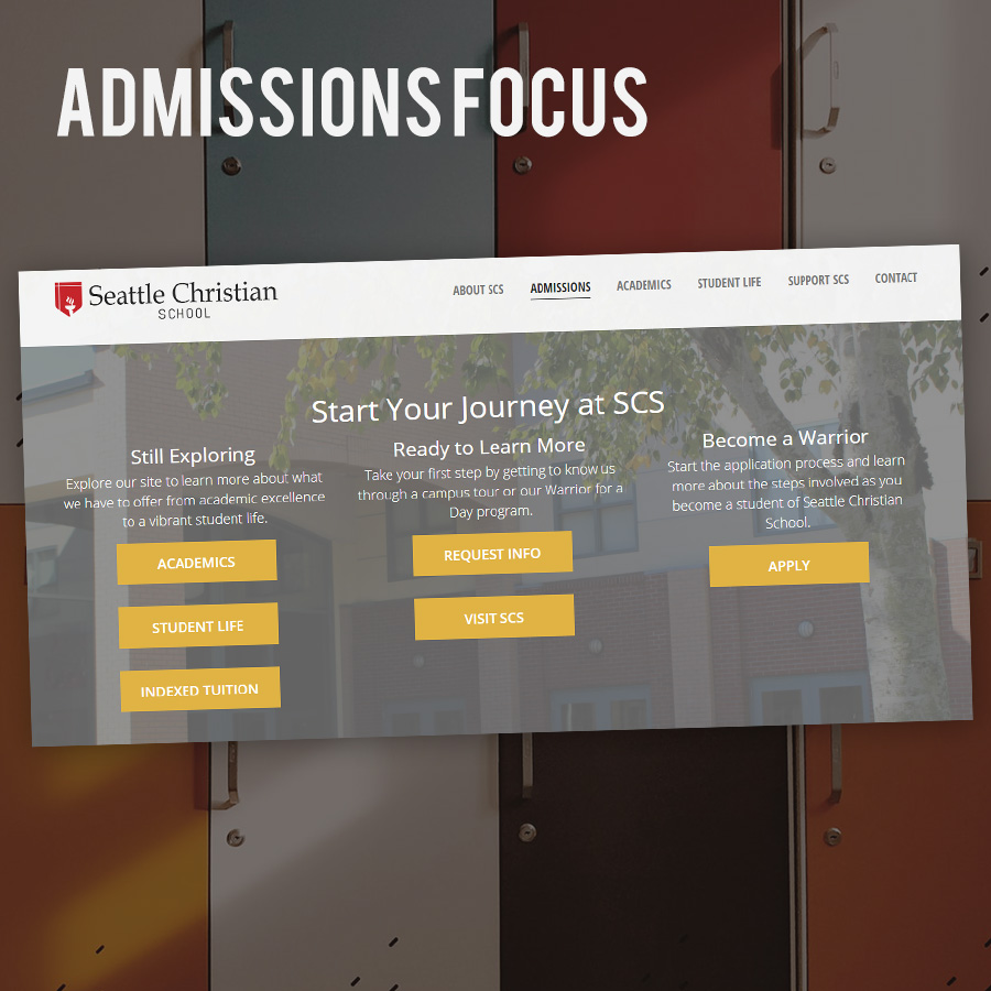 School Websites - Admissions Focus