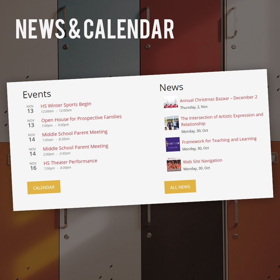 School Websites - News & Calendar
